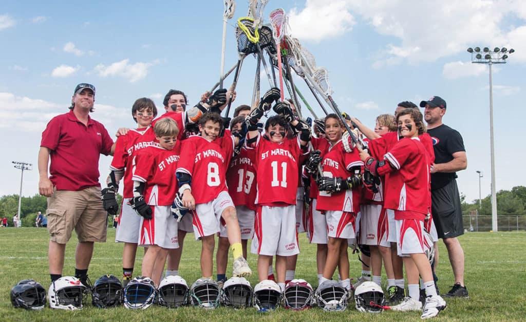 Lacrosse Team at St. Martins School in Severna Park