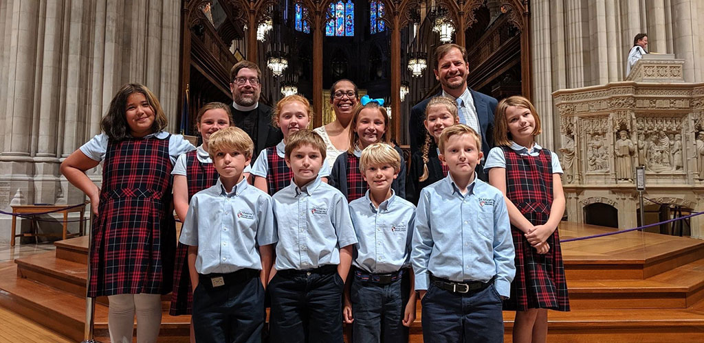 St. Martins Episcopal School students at cathedral