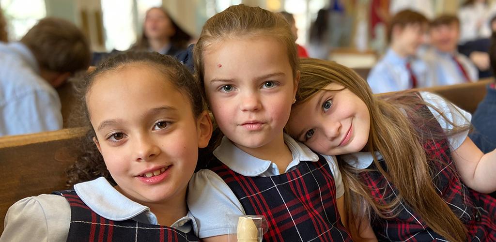 School Girls in Chapel