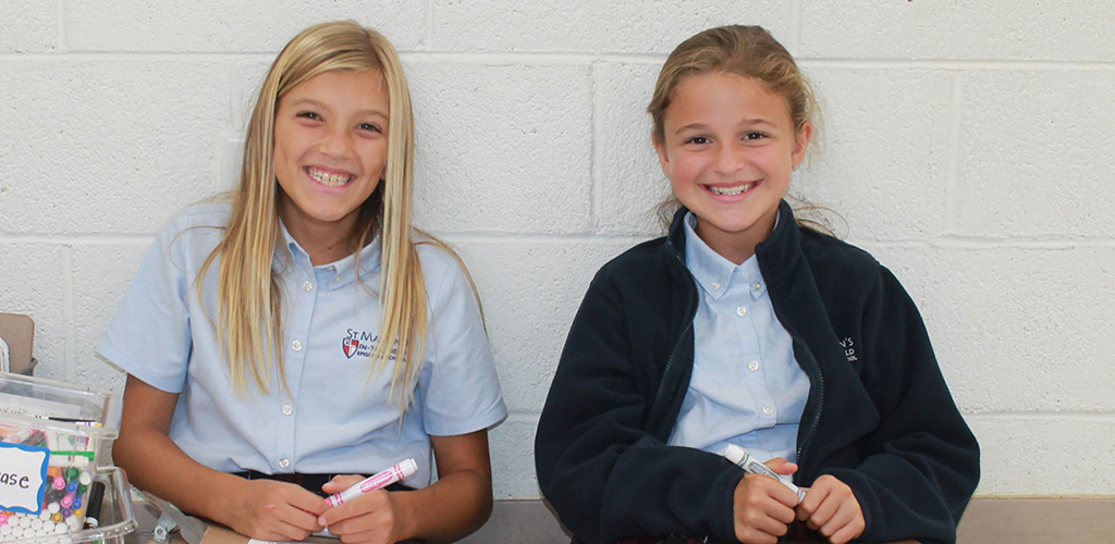 Smiling Middle School Girls