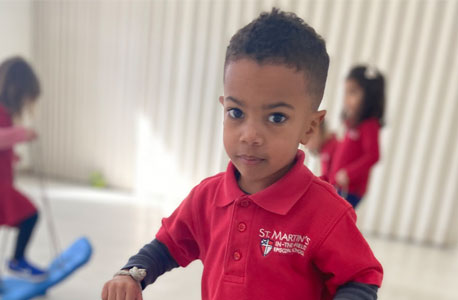child in preschool at st. martins in maryland