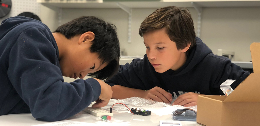 Kids Working Together on Science Project
